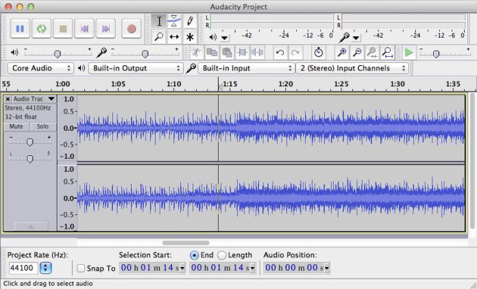 Eliminare la voce da un file audio