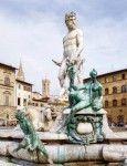 Firenze Fontana del Nettuno in Piazza della Signoria