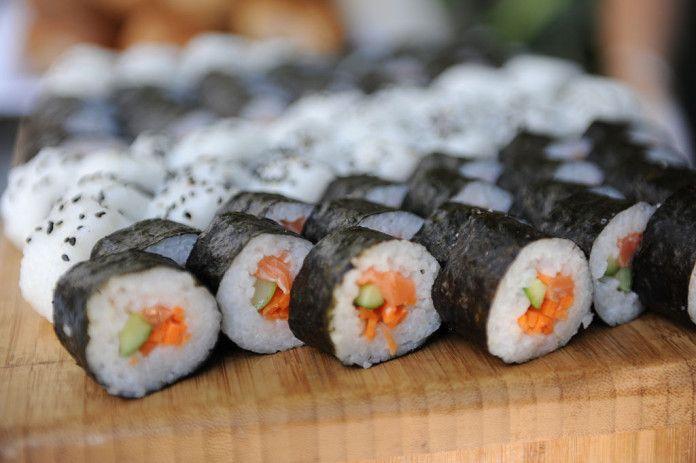 sushi, cucina giapponese, riso