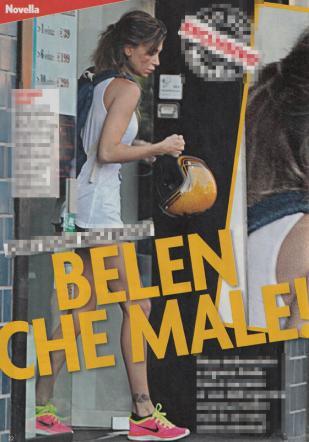 Belen Rodriguez scappa a casa