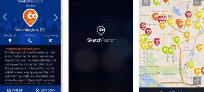Sketchfactor è la app che informa sul livello di degrado di una certa zona