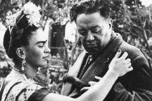 Frida e Diego fotografati da Wllace Marly nel 1944.