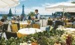 Hotel Bayerischer Hof sul Lago di Costanza.Trivago.ristorante all'aperto