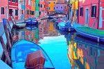 città più mulricolor del mondo.Burano.Venezia