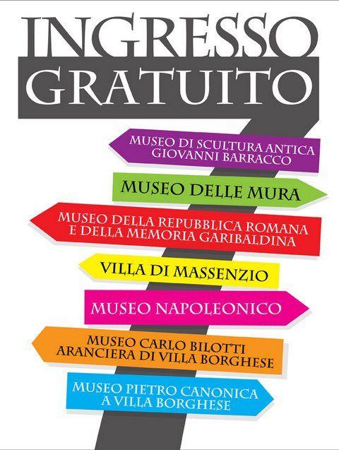 I #7museigratis a Roma.