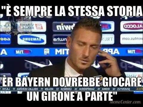 Chiaro riferimento alle dichiarazioni di Totti dopo la partita al veleno tra Juve e Roma