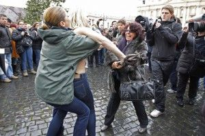 Protesta Femen in Vaticano