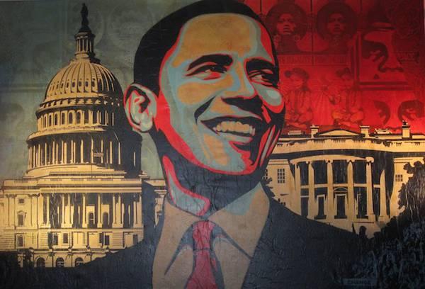 Capitol Hill, l'imponente tela dello street artist Shepard Fairey.