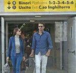 Ilaria D'Amico e Buffon in stazione a Torino