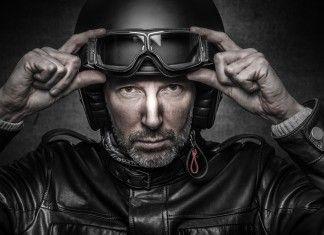 Motociclista fiero