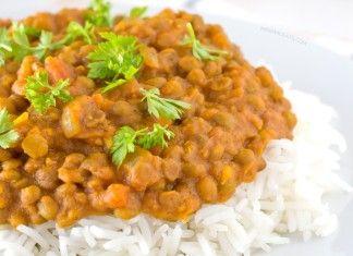 Riso, lenticchie e curry