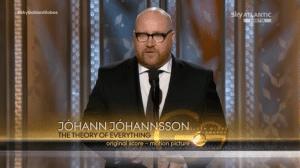 Golden Globe 2015 a Johann Johannsson per la miglior colonna sonora originale (La teoria del tutto)