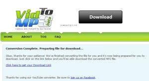 VidToMP3 - schermata download