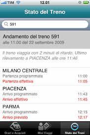 ViaggiaTreno permette di monitorare la situazione del proprio treno in tempo reale.