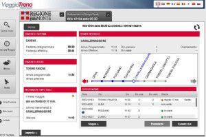ViaggiaTreno fornisce tutte le informazioni relative al viaggio di interesse.