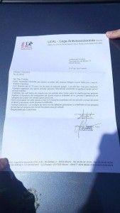 La lettera scritta da Prampolini al Console ucraino