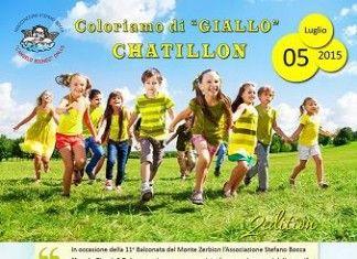 L'Angelo Biondo Onlus organizza l'evento Coloriamo di Giallo Chatillon