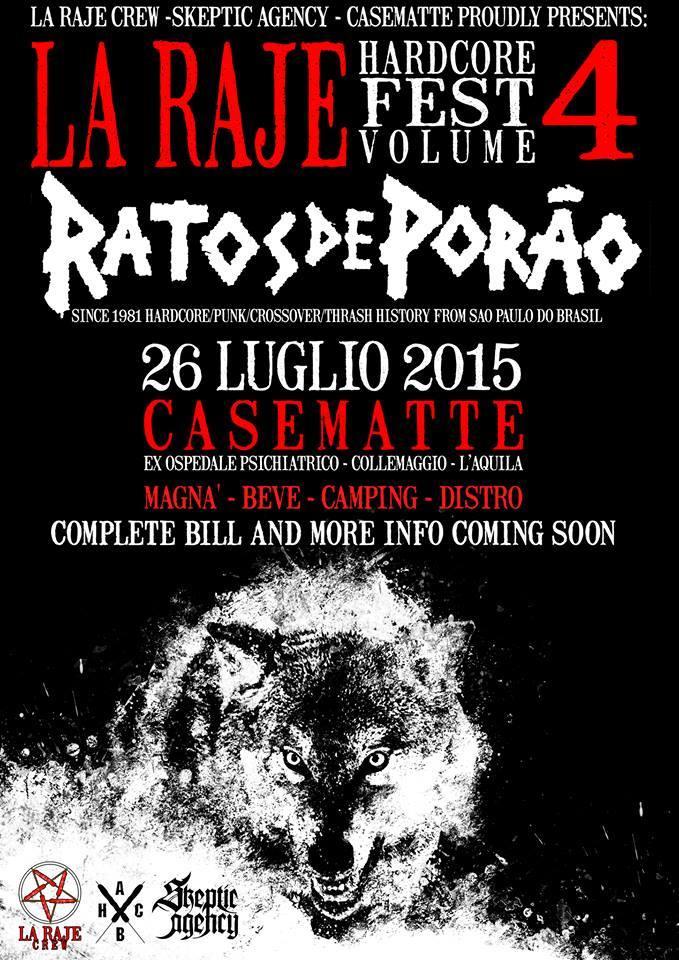 Ratos de Porão: tre date italiane nel tour europeo
