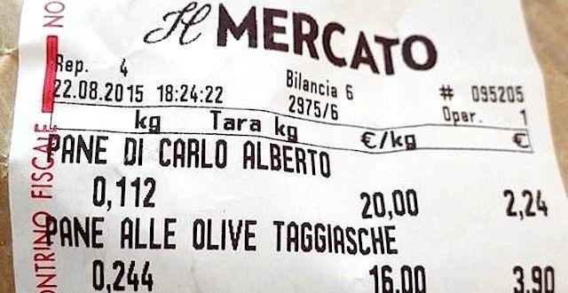 20 euro per un chilo di pane