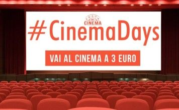 Cinema Days: dal 12 al 15 ottobre si va al cinema con 3 euro