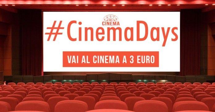 Cinema Days: dal 12 al 15 ottobre si va al cinema con 3 euro