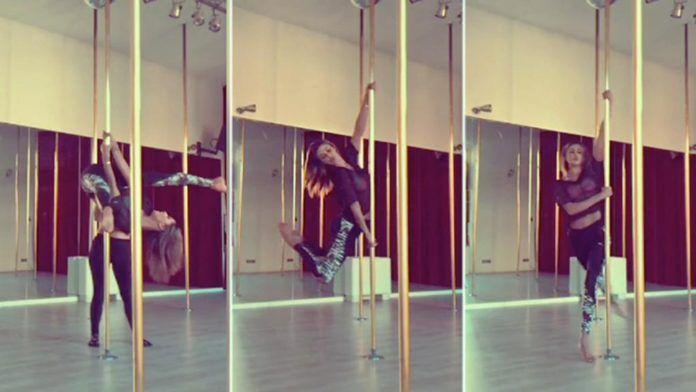 pole dance di belen