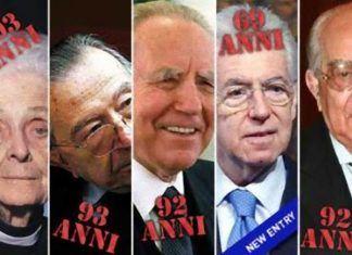 Senatori a vita che paghiamo anche da morti