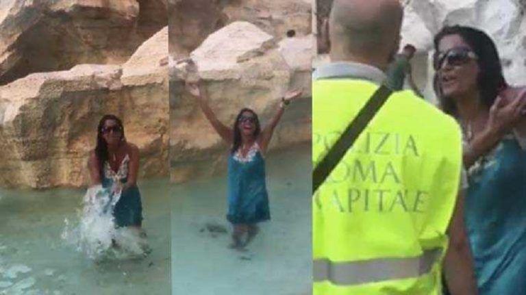 Aida Nizar vergogna: profanata la Fontana di Trevi – VIDEO INTEGRALE