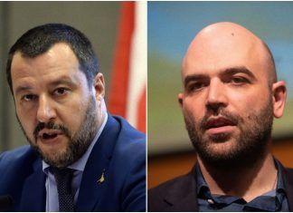 Roberto Saviano contro Matteo Salvini