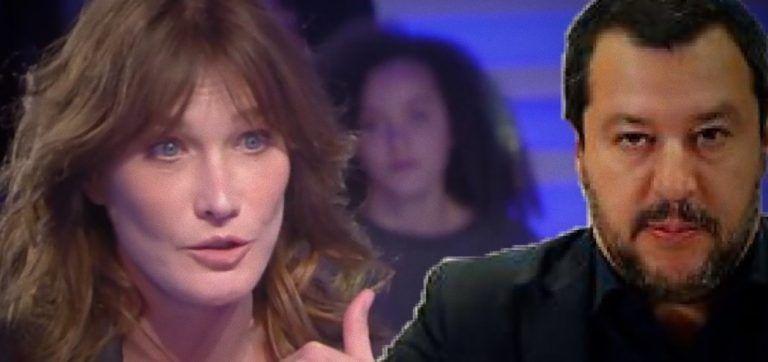 Carla Bruni contro il leader della Lega: 'Salvini è semplicemente sgradevole'
