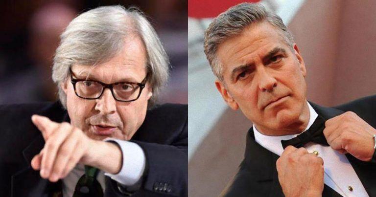 Vittorio Sgarbi infuriato nero con George Clooney: ecco il motivo