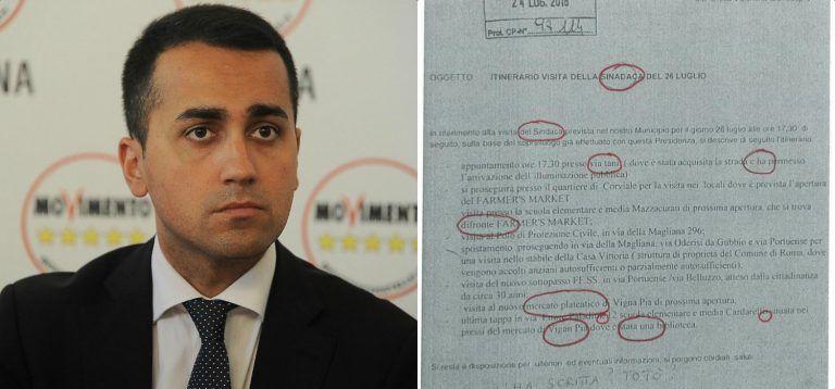 """Imbarazzo M5s, il minisindaco fa 10 errori in 18 righe di lettera: """"Come Totò"""""""