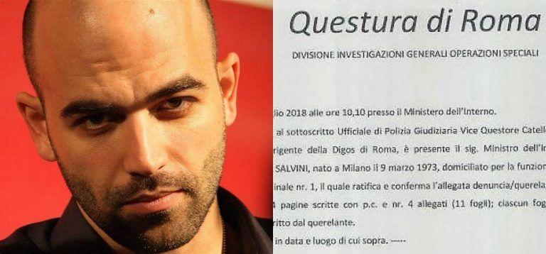 Guai seri per Saviano, dopo la querela di Salvini indagato per diffamazione: Ecco cosa rischia
