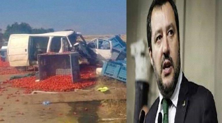 Braccianti morti a Foggia, Matteo Salvini ingiuriato di fronte alla Prefettura – FOTO