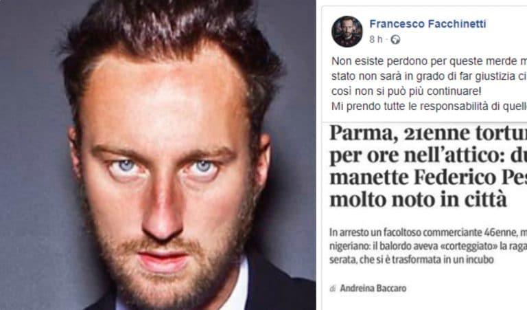 Stuprata da un immigrato: il commento di Francesco Facchinetti diventa virale