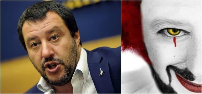 L'Ong offende Matteo Salvini paragonandolo ad IT il pagliaccio – FOTO