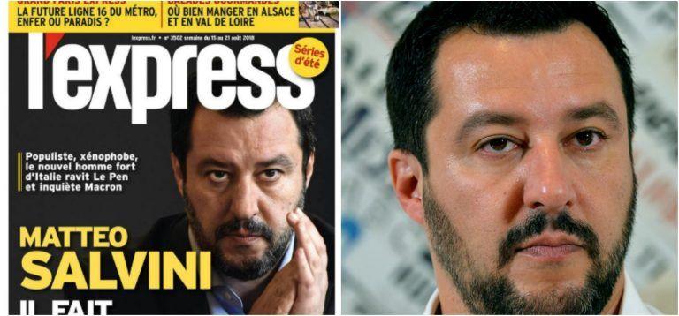 """""""Populista, xenofobo e…"""" Il magazine francese l'Express contro Salvini, lui: """"Non sanno…"""