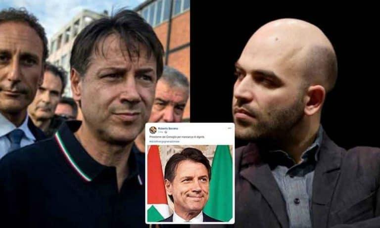 """Diciotti, Roberto Saviano offende il premier Conte: """"Mancanza di dignità…"""