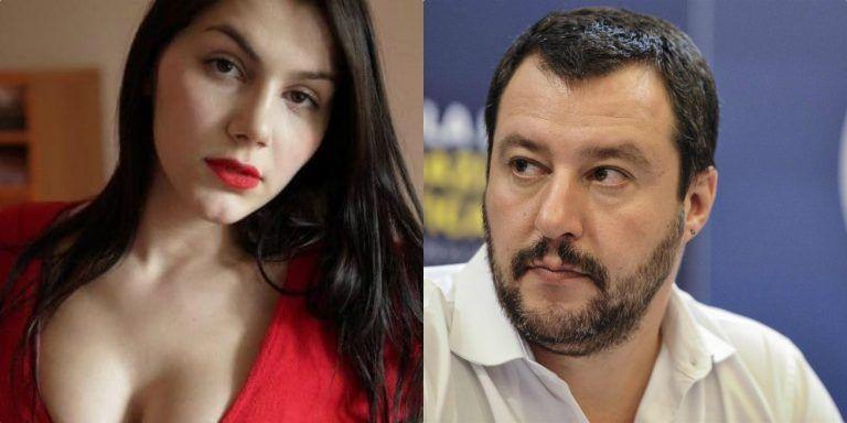 """La pornostar Valentina Nappi contro Salvini: """"Non me lo farei mai, me la cucirei…."""""""