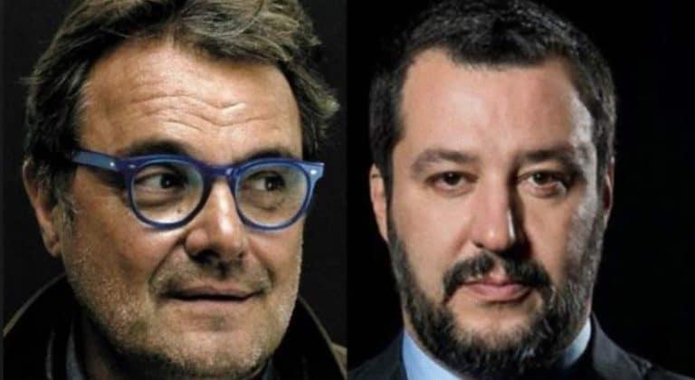'Salvini fa i pom*ini ai cretini', la vergogna di Toscani: il leghista lo asfalta così