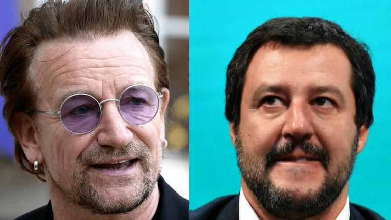 """Bono degli U2 fa la ramanzina a Salvini sbotta: """"Ma quale pazienza! Gli italiani non possono…"""""""