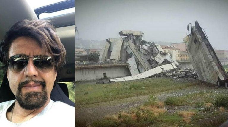 """Crollo del ponte Morandi, Valerio Staffelli testimone: """"Un fulmine lo ha colpito…"""""""