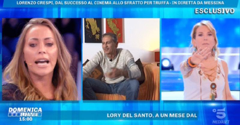 Domenica Live, insulti tra l'attore Lorenzo Crespi e l'opinionista Karina Cascella