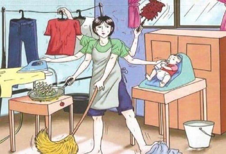Un lavoro non retribuito e faticoso: fare la casalinga