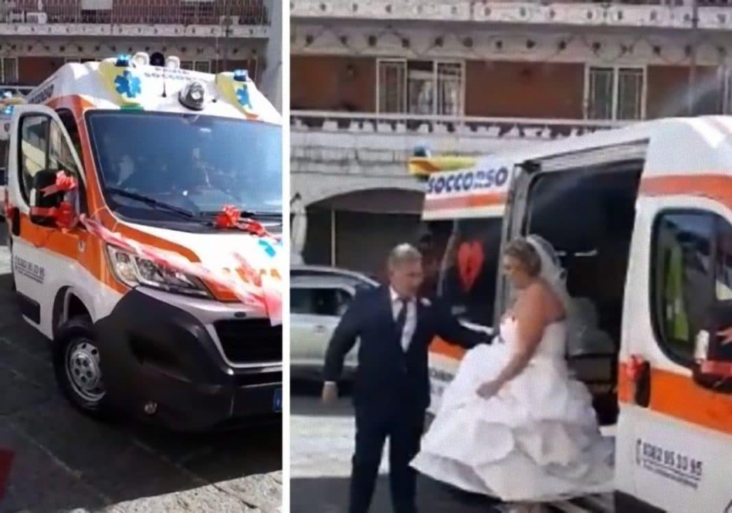 Matrimonio In Ambulanza : Matrimonio assurdo nel napoletano ambulanza a sirene spiegate