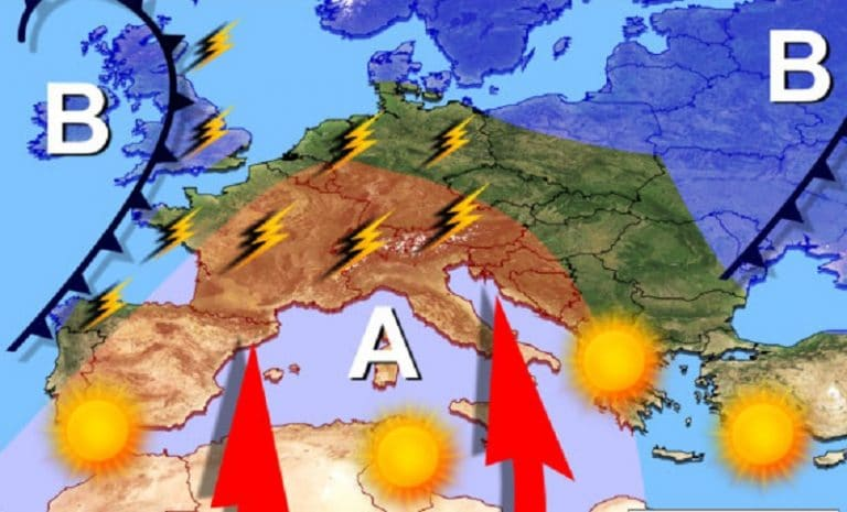 METEO, Martedi 4 Settembre: previsti temporali e grandine. Temperature in aumento