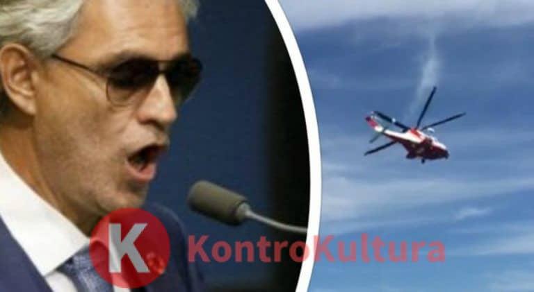 """Andrea Bocelli coinvolto in un incidente: """"L'elicottero ha avuto un problema"""