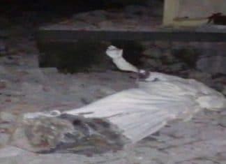Terremoto Catania crolla statua santo