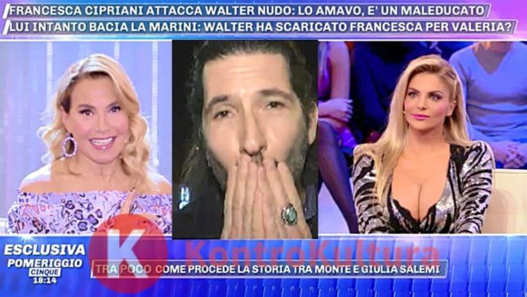Gf Vip, Francesca Cipriani vs. Walter Nudo: 'è un maleducato'