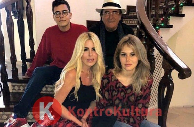 Albano Carrisi assieme alla sua famiglia a Natale
